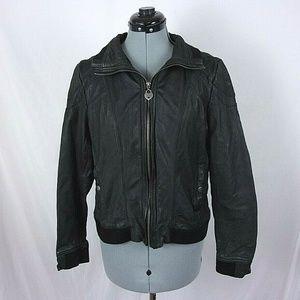 Guess Moto Jacket Leather Black Junior XL